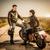 para · człowiek · kobieta · motocykla · drogowego - zdjęcia stock © cookelma