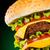 lezzetli · iştah · açıcı · hamburger · yeşil · bar · peynir - stok fotoğraf © cookelma