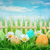 dekore · edilmiş · paskalya · yumurtası · çim · mavi · gökyüzü · gökyüzü · çiçek - stok fotoğraf © cookelma