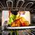 főzés · tyúk · sütő · otthon · háziasszony · sült · csirke - stock fotó © cookelma