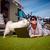 mulher · cão · carro · verão · viajar · férias - foto stock © cookelma