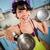 クレイジー · 面白い · 主婦 · インテリア · キッチン · 少女 - ストックフォト © cookelma