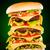 вкусный · аппетитный · гамбургер · зеленый · Бар · сыра - Сток-фото © cookelma