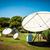 parabolaantenna · égbolt · internet · nap · háló · kábel - stock fotó © cookelma
