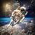 астронавт · космическое · пространство · фон · планете · Земля · Элементы · изображение - Сток-фото © cookelma