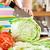 kezek · vág · zöldségek · saláta · mögött · friss · zöldségek - stock fotó © cookelma