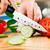 szakács · vág · zöld · uborka · konyha · kezek - stock fotó © cookelma