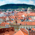prague view of the city from above tilt shift lens stock photo © cookelma