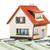 ház · bankjegyek · pénz · otthon · dollár · adó - stock fotó © cookelma