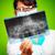 femenino · médico · examinar · Xray · imagen · enfoque - foto stock © cookelma