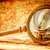 vintage · lupa · mentiras · antigo · mapa · do · mundo · bússola - foto stock © cookelma