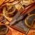 vintage · gans · pen · oude · kaart · stilleven · business - stockfoto © cookelma