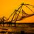 chinês · pôr · do · sol · Índia · forte · sol · silhueta - foto stock © cookelma