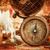 vintage still life vintage items on ancient map stock photo © cookelma