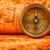 vintage · bússola · mentiras · antigo · mapa · do · mundo · natureza · morta - foto stock © cookelma
