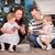 pequeño · nino · árbol · de · navidad · sombrero · árbol - foto stock © cookelma