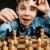 nerd · jugar · ajedrez · negro · pensando · aprendizaje - foto stock © cookelma
