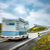 Noruega · caravana · carro · rodovia · oceano - foto stock © cookelma