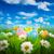 renkli · paskalya · yumurtası · alan · çim · mavi · gökyüzü · gökyüzü - stok fotoğraf © cookelma