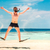 смешные · человека · прыжки · маске · праздник · отпуск - Сток-фото © cookelma