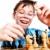nerd · jugar · ajedrez · blanco · diversión · jóvenes - foto stock © cookelma