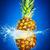 ananas · water · Blauw · natuur · vruchten · drinken - stockfoto © cookelma