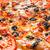 egész · pepperoni · pizza · piros · asztalterítő · copy · space - stock fotó © cookelma