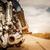 menina · motocicleta · jaqueta · de · couro · olhando · pôr · do · sol - foto stock © cookelma