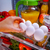 chicken eggs on a shelf open refrigerator stock photo © cookelma
