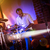 davulcu · müzik · adam · gece · kaya - stok fotoğraf © cookelma