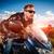 motoros · versenyzés · út · bőrdzseki · lovaglás · motorkerékpár - stock fotó © cookelma
