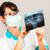 стоматолога · врач · Xray · изображение · молодые · женщины - Сток-фото © cookelma