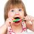 eten · lolly · witte · meisje · hand - stockfoto © cookelma
