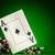 cips · iki · aces · tablo · yeşil - stok fotoğraf © cookelma