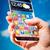 смартфон · прозрачный · экране · человека · рук · футуристический - Сток-фото © cookelma