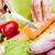 handen · groenten · wortel · achter · verse · groenten - stockfoto © cookelma