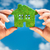groene · energie · symbool · blauwe · hemel · boom · gras · aarde - stockfoto © cookelma