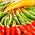 rojo · chile · pimientos · blanco · diversión · color - foto stock © cookelma