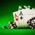 чипов · два · Тузы · таблице · зеленый - Сток-фото © cookelma