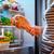 donna · ricerca · alimentare · frigorifero · confusi · open - foto d'archivio © cookelma