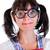divertente · nerd · studente · isolato · bianco · libri - foto d'archivio © cookelma