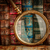 livres · verre · plateau · bois · placard - photo stock © cookelma