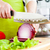 womans hands cutting bulb onion stock photo © cookelma