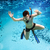teenager in the mask and snorkel swim underwater stock photo © cookelma