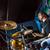 batterista · fuoco · scheletro · giocare · tamburi · party - foto d'archivio © cookelma
