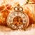 natal · relógio · de · bolso · natureza · morta · festa · neve · metal - foto stock © cookelma