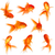 金魚 · 孤立した · 白 · 金 · 水中 · 新鮮な - ストックフォト © cookelma