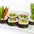 суши · катиться · белый · Японский · кухня · рыбы - Сток-фото © cookelma
