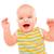mutlu · küçük · bebek · yalıtılmış · beyaz · gülümseme - stok fotoğraf © cookelma