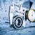 bola · metal · técnico · desenho · azul · construção - foto stock © cookelma